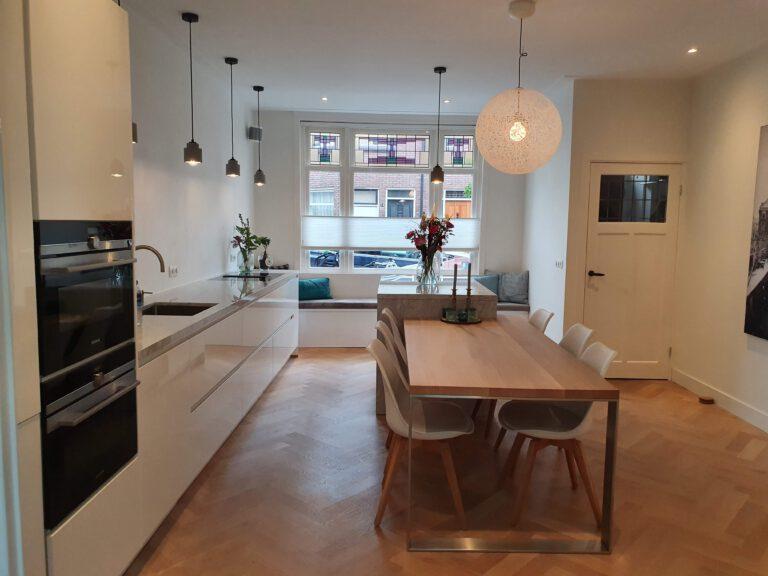 Constructie doorbraak biedt ruimte aan woonkeuken