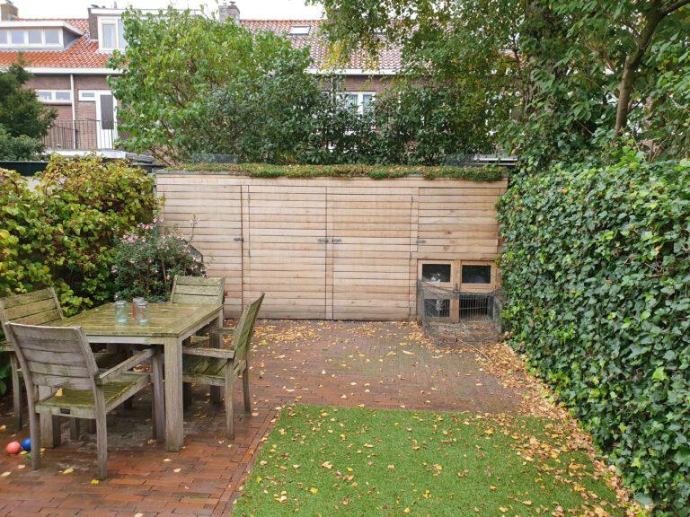 optimale gebruik tuin door brede ondiepe schuur